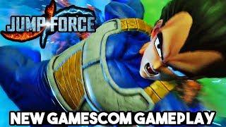NEW JUMP FORCE VEGETA, GON, BLACKBEARD ALL NEW CHARACTER GAMEPLAY MASHUP! Gamescom 2018 Gameplay