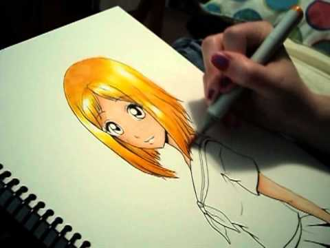 Copic marker drawing tutorial: using copics like watercolor sketch.