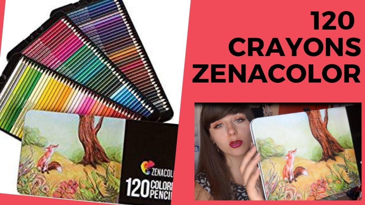 Revue 120 Crayons Zenacolor Un Arc En Ciel De Nuances Youtube