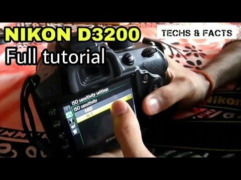 Nikon D3200 full tutorial guide   How to use a DSLR full explaination