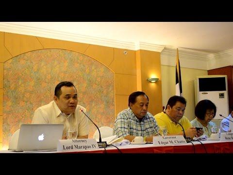 BOHOL LEADERS ON PRESSCON ABOUT GRAFT CASE DISMISSAL