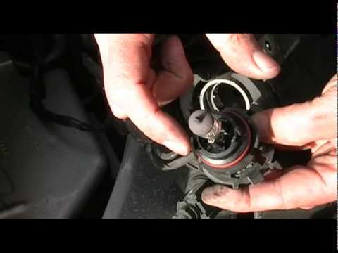 2010 Dodge Grand Caravan >> Changing a headlight bulb on a Grand Caravan - YouTube