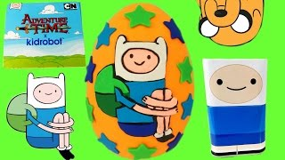 Huge Adventure Time Finn Play Doh Egg!! Kidrobot Blind Boxes!  ! Legos! Angry Birds Mashems