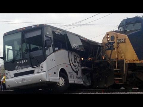 Train Hits Bus in Mississippi, Killing 4 Passengers