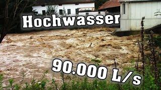 90.000 Liter pro Sekunde! Hochwasser Safenbach Oststeiermark 2020