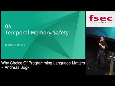 FSec 2016 - Andreas Bogk: Why choice of programming language matters