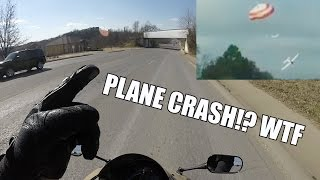 Plane Crash! Riding In Fayetteville, AR
