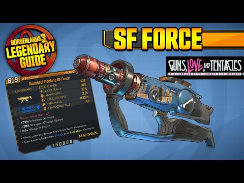 BORDERLANDS 3 | SF FORCE - Legendary Weapons Guide!!! Guns, Love & Tentacles DLC