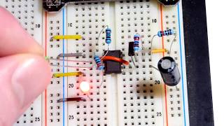 555 NE555 astable mode electronics circuit step by step build to alternatively flash red green LEDs