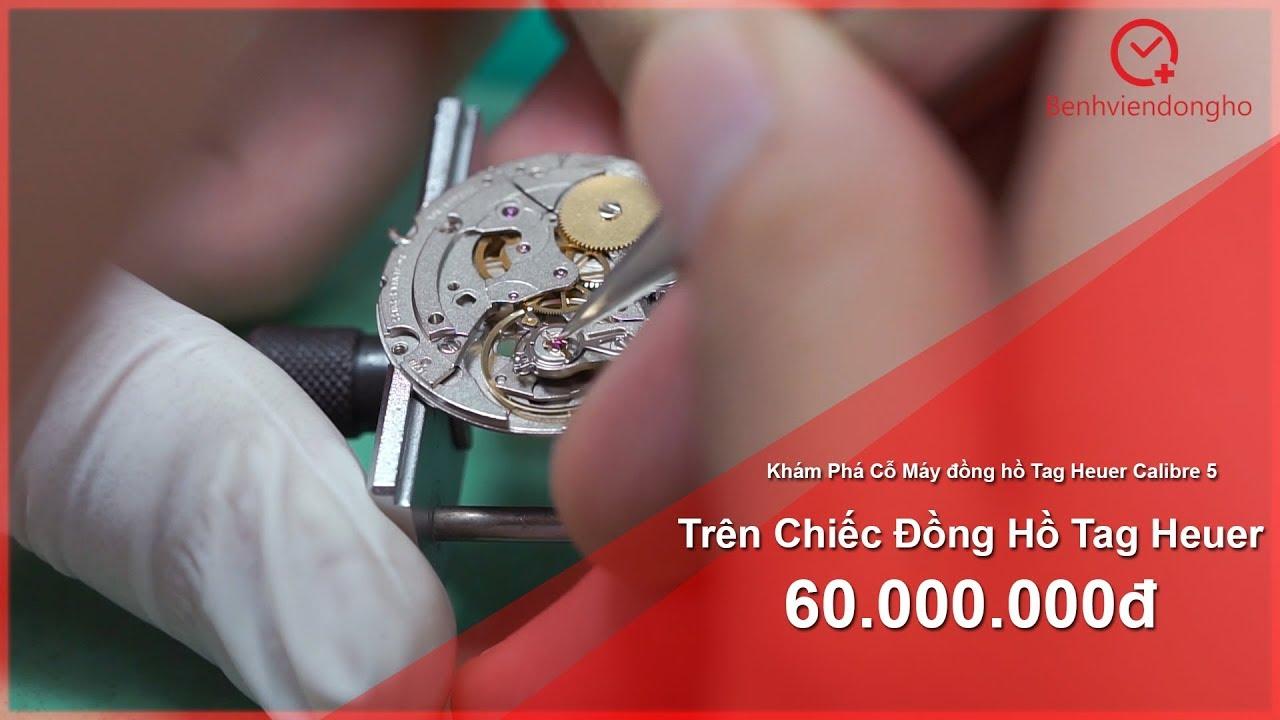 Cận Cảnh Lau Dầu Bảo Dưỡng Đồng Hồ Tag Heuer 60.000.000đ