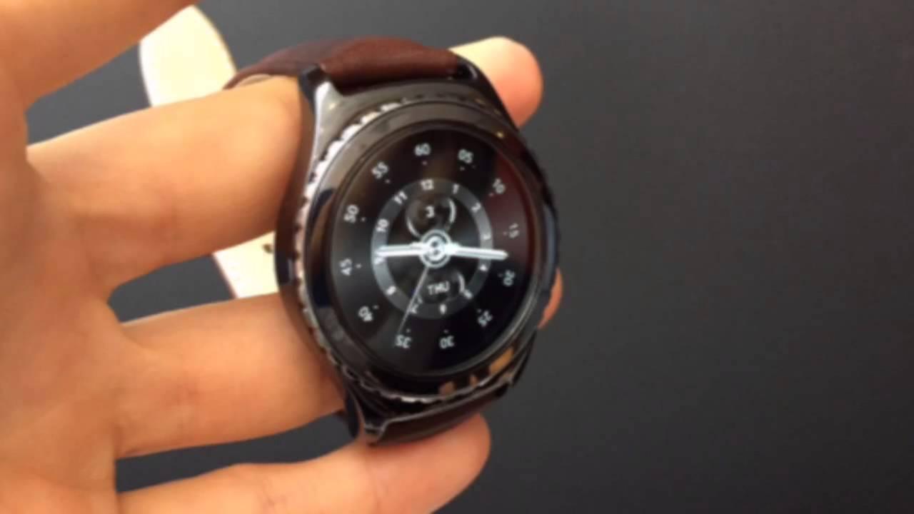 samsung gear s2 prise en main de la nouvelle montre connect e sous tizen youtube. Black Bedroom Furniture Sets. Home Design Ideas