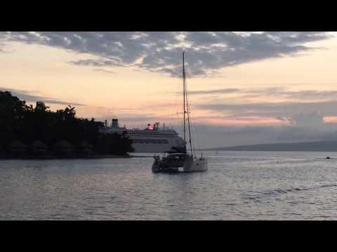 Farewelling Pacific Dawn in Vila, Vanuatu