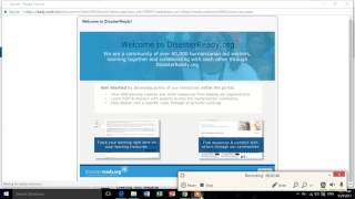 Introduction to disasterready elearning platform- Welcome to disasterready org