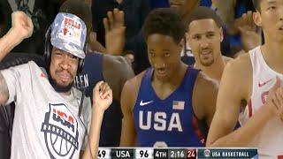 DEMAR DEROZAN CATCHES A BODY! USA vs CHINA FULL GAME HIGHLIGHTS REACTION!