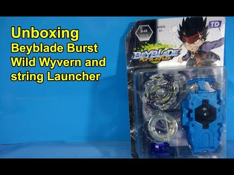 Unboxing Beyblade Burst B 42 Wild Wyvern | Beyblade Burst Top and String Launcher Unboxing