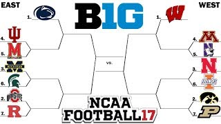 BIG 10 Tournament (East Round 1) NCAA Football 2017 (2016 Season on NCAA 14)