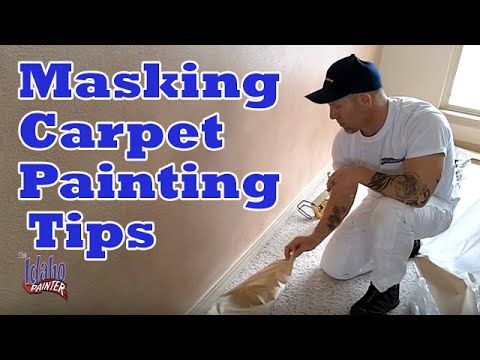 Masking Carpet With Painters Tape How To Mask Carpet