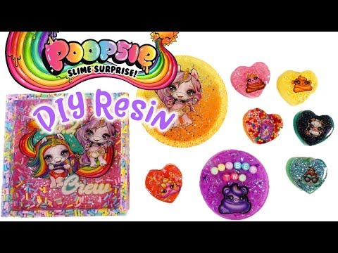 Easy DIY Resin Charms and Jewelry Dishes with  Poopsie Slime Surprise Stickers