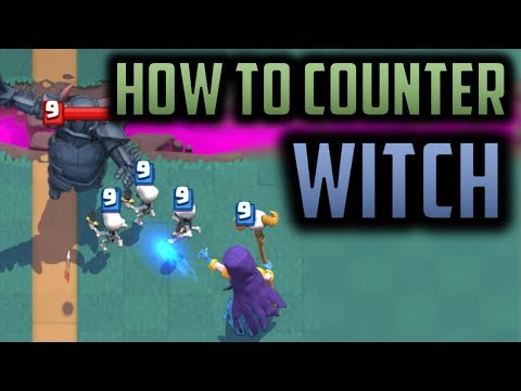 HOW TO COUNTER WITCH // Strategy to Overcoming Ladder's MOST Annoying Card // Clash Royale