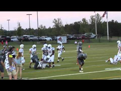 Reed Hunt Game Highlights (#58 in white) Florence Christian School, Florence, SC