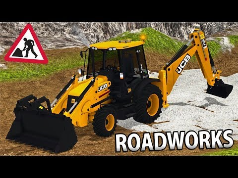 ROADWORKS IN FARMING SIMULATOR 17 | JCB 3CX