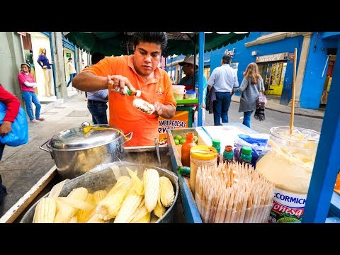 STREET FOOD: CHEESE CORN AND MEXICAN MEAT