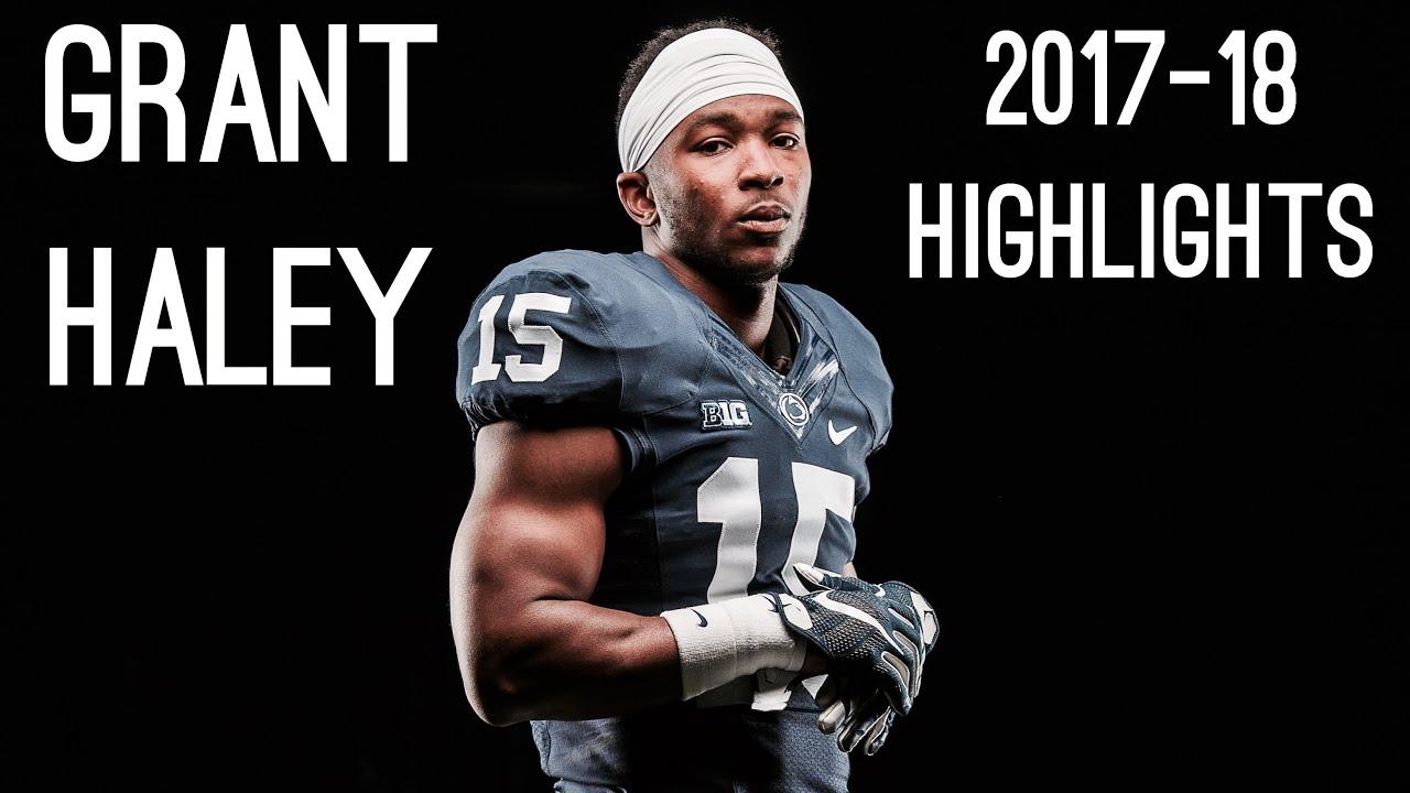 big sale 71343 3bbd7 Grant Haley Senior Season ( 2017-18 ) Highlights ᴴᴰ || Penn State CB #15