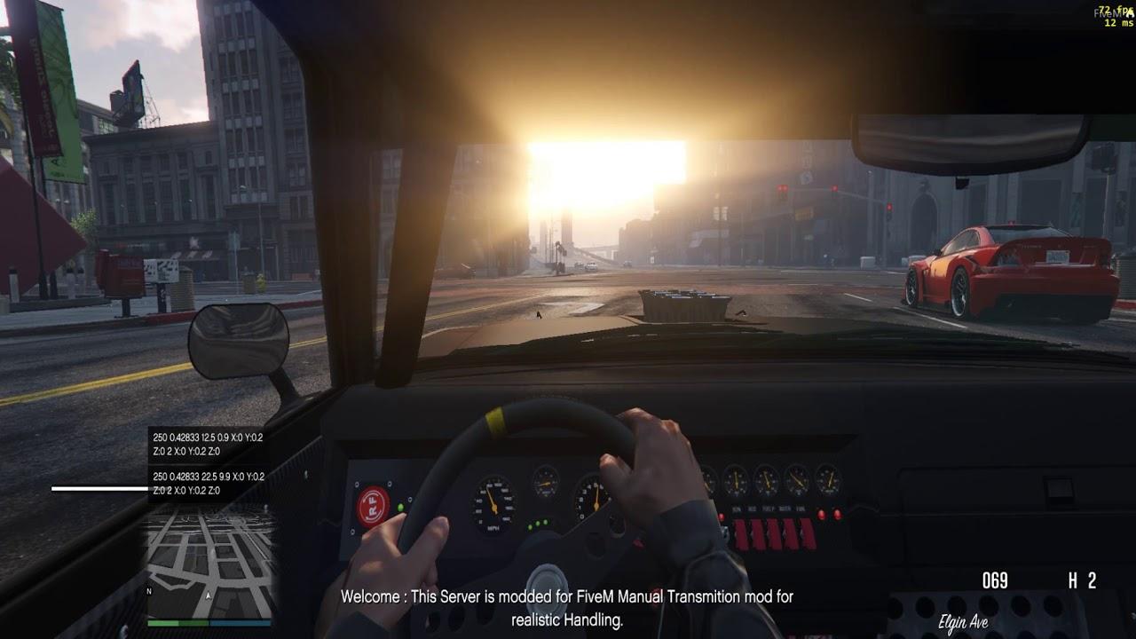 GTA 5 FiveM 2018 Realistic handling mod for Manual transmission mod
