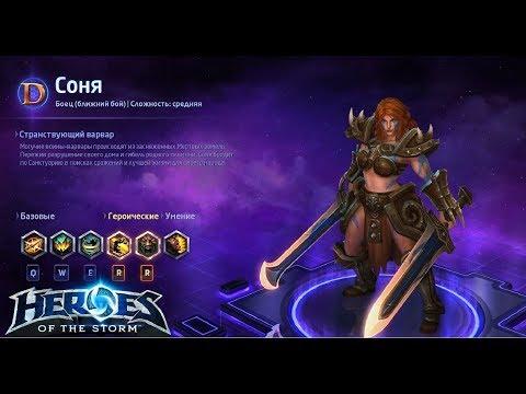 видео: heroes of the storm/Герои шторма. pro gaming. Соня. push+dd билд.