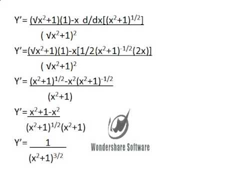 How to find the derivative of y\u003dx/sqrt(x^2+1) - YouTube - 1/2^x