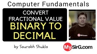 Convert Fractional Value Binary to Decimal