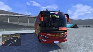 Euro Truck Simulator 2 Mercedez Benz Jetbus 2 HD Sugeng Rahayu By Golden Star Telolet Air Horn Test