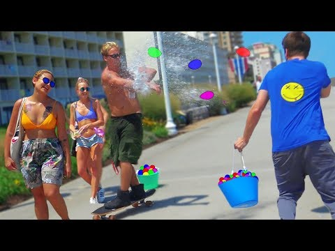 Water Balloon Challenge Prank