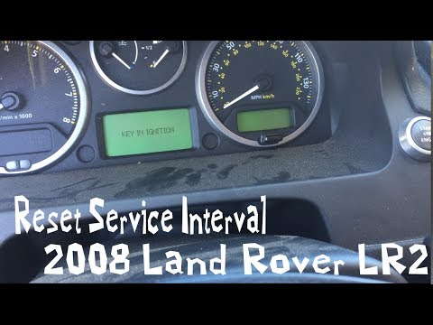 Reset Your Service Interval On 2008 08 Land Rover LR2 Indicator 09 10