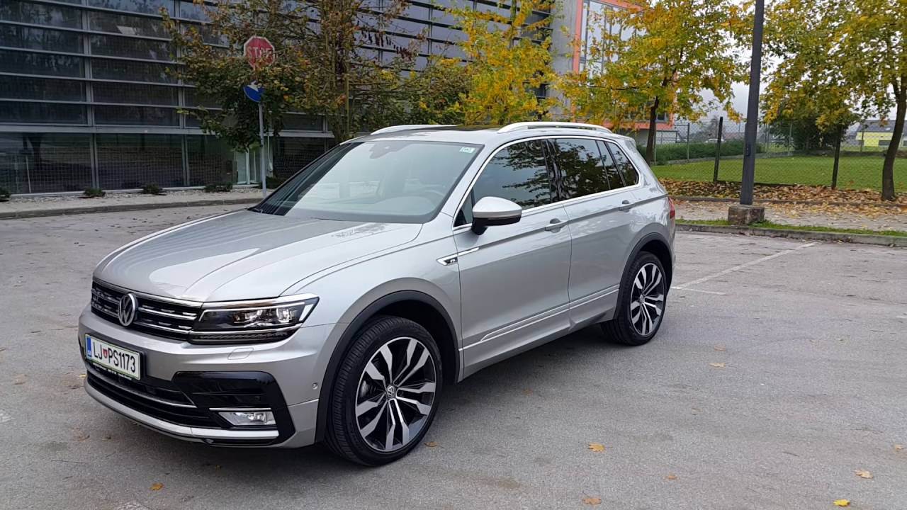 Volkswagen Touareg 2018 >> 2016 Tiguan R line 150PS 4MOTION Tungsten silver - YouTube