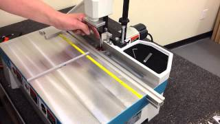 Installing Center Line Locator On Hoffmann Mu 2 Dovetail Routing Machine