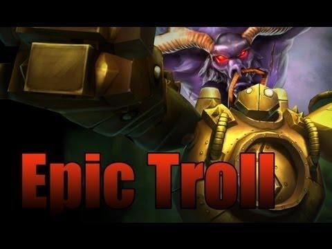 El robot roto, el demonio usando latigo cepa y el toro en celo(league of legends)