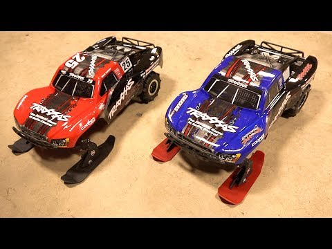 SNOW & SAND - TBR 2018 V3 SKIs : Traxxas 1/10 2WD SLASH  w/ Paddle Tires | RC ADVENTURES