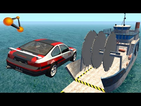 BeamNG.drive - Giant Saw Against Cars #2 thumbnail