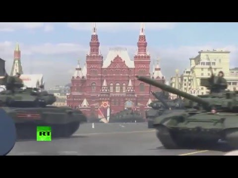 V-Day parade dress rehearsal in Moscow