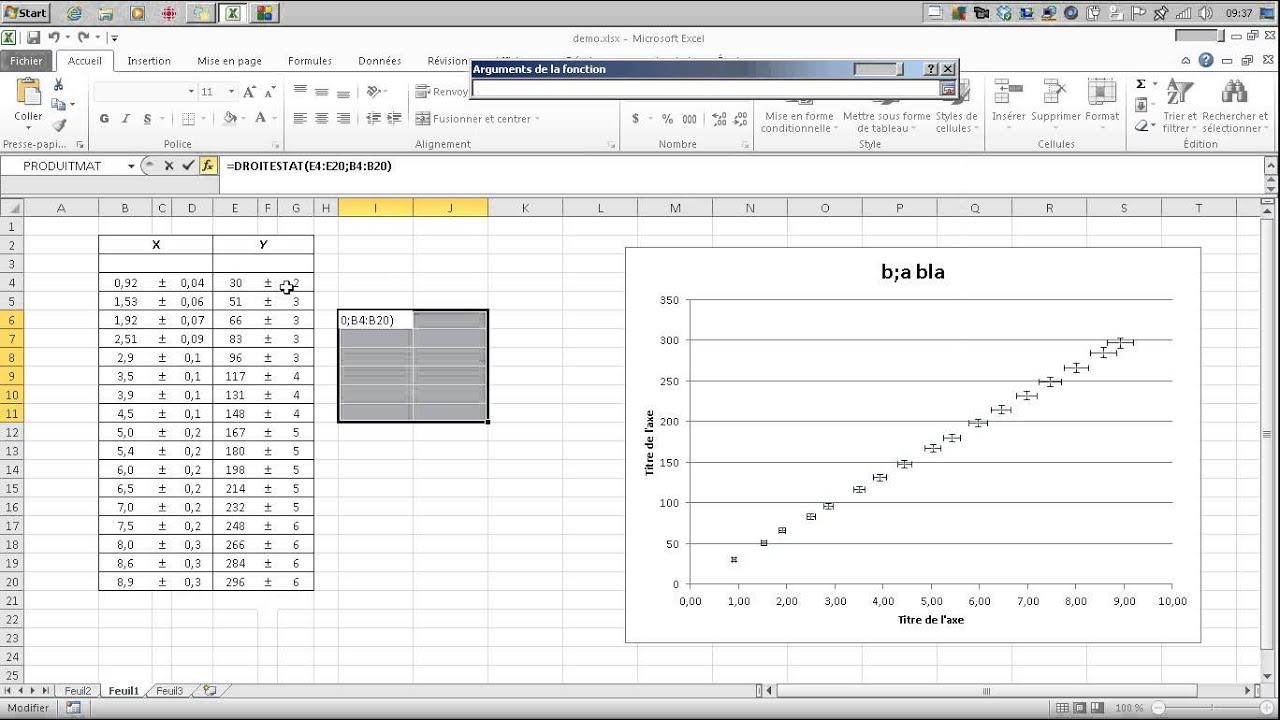 comment faire un graphique et utiliser droitestat
