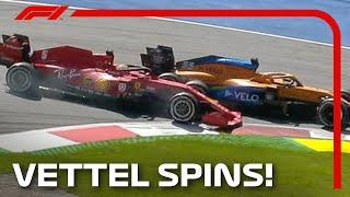 Sebastian Vettel Hits Carlos Sainz | 2020 Austrian Grand Prix