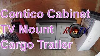 Cargo Trailer Conversion.. Contico Storage Cabinet Assembly...TV Wall Mount...RVerTV