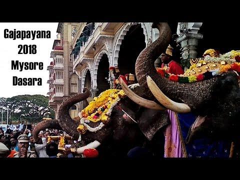 Start Of Mysore Dasara 2018 - Gajapayana - Welcome Of Dasara Elephants To Mysore Palace