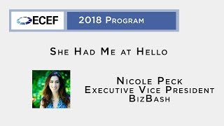 #ECEF 2018: A Chatbot Launch by Nicole Peck
