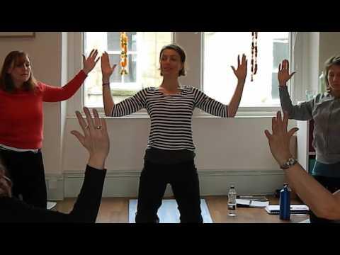 Womb Yoga With Sally Parkes Filmed in Harrogate at Teacher Sally's Pregnancy Yoga Teacher Training