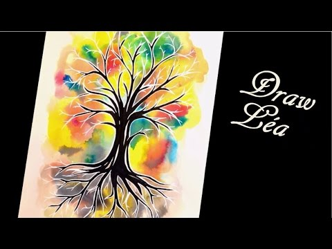 Dessin Aquarelle Arbre De Vie Youtube