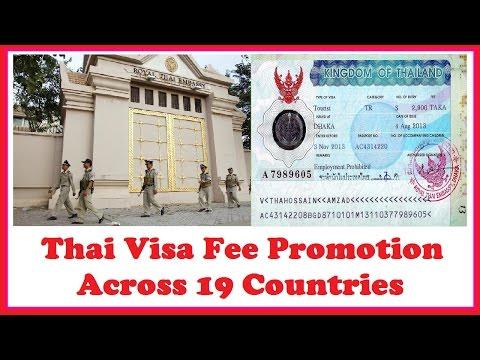 Thai Visa Fee Promotion Across 19 Countries