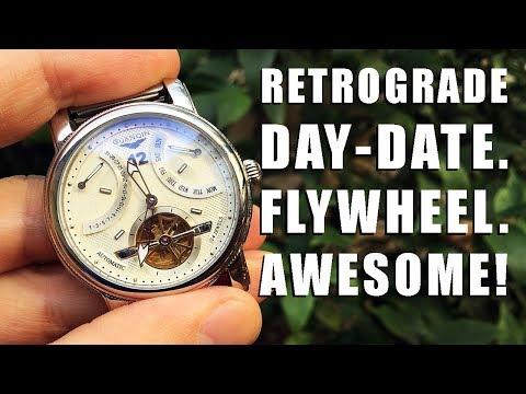 Elegance! Guanqin Retrograde Day-Date Automatic Flywheel (GJ16009) c/o GearBest - Perth WAtch #139