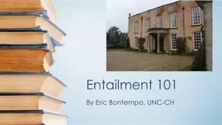 2019 Context Corner: Entailment 101 by Eric Bontempo